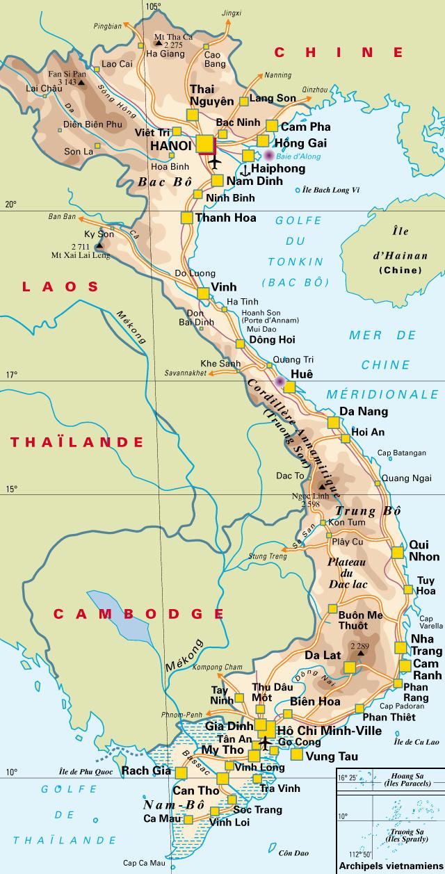 Célèbre Vietnam:-Cartes-liens at Xin Chào Vietnam… Ginette et Michel PU41